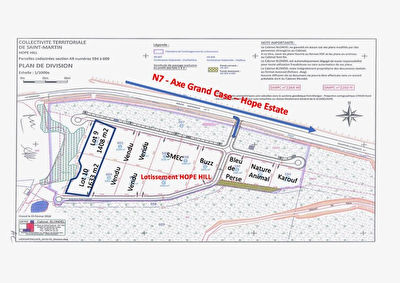 Terrains  3041 m2 ZONE COMMERCIALE HOPE HILL
